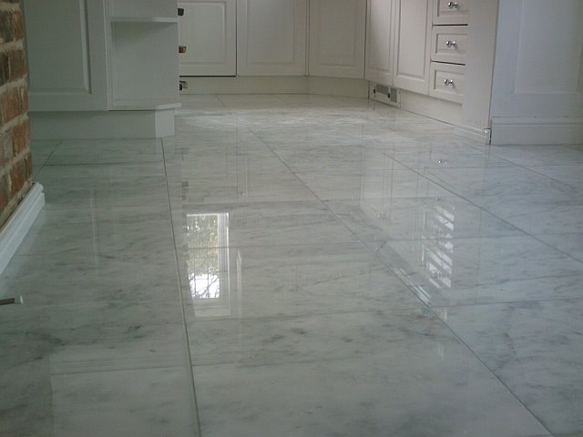 White Kitchen Floor Tile
